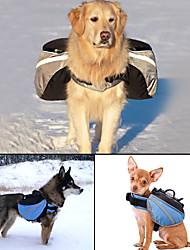 Chien Dog Paquet Animaux de Compagnie Transporteur Ajustable/Réglable Réfléchissant Portable Couleur Pleine Gris Bleu