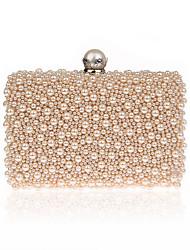 Damen Taschen Ganzjährig Polyester Abendtasche Perlen Verzierung für Hochzeit Veranstaltung / Fest Normal Formal Champagner Schwarz Beige