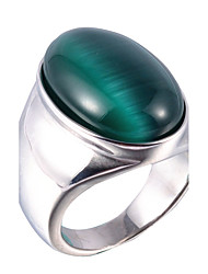 preiswerte -Herrn Ring Statement-Ring - Geometrische Form Oval Personalisiert Euramerican Hip-Hop Modisch Rock Punk Weiß Grau Kaffee Rot Grün Ring Für