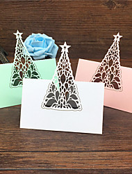 cheap -40pcs Birthday Tree Laser Cut Baby Shower Party Table Name Place Cards Wedding Invitations Table Name Card Party