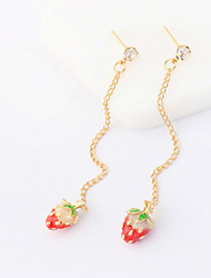 cheap -Drop Earrings Women's Personalized Long Adorable Simulation of Strawberry  Daily Party Daily Graduation Gift Movie Jewelry