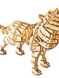 economico -Puzzle 3D Puzzle Giocattoli Con animale Animali Fai da te Legno Lengo naturale Unisex Pezzi
