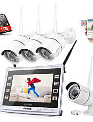 cheap -SANNCE® 4CH CCTV NVR Wireless 1080P Weatherproof IP Camera Security System Remote ALert with 1TB HDD