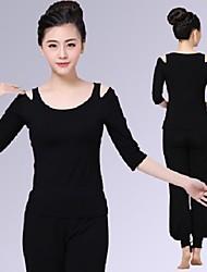 Yoga Top Traspirazione umidità Casual Abbigliamento sportivo Yoga Pilates Danza Per donna