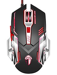 Gaming Mouse 3200 DPI Wired Programmable 6 Buttons Optical X5 Mice with Colorful Breathing LED
