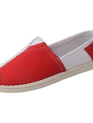 Dámské Atletické boty Pohodlné Látka Jaro Podzim Pohodlné Plochá podrážka Černá Červená Méně než 2.5 cm