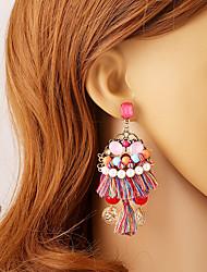 Per donna Chiusura/gancio dell'orecchino Orecchini a goccia palla orecchini Originale Pendente Stile semplice bigiotteria Resina Strass