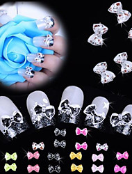 cheap -Mixed Colors Nail Bow Tie Rhinestone Acylic Glitter Nail Resin Leopard Decoration Cell phone DIY Decoration