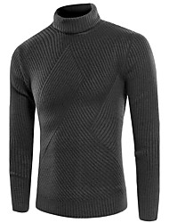 cheap -Men's Long Sleeve Pullover - Solid Colored