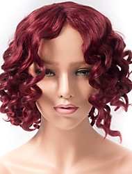 Curly Synthetic Wigs For Black Women Short Red Color African American Wig