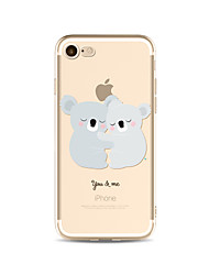 billige -Etui Til Apple iPhone X iPhone 8 Plus Transparent Mønster Bagcover Tegneserie Dyr Blødt TPU for iPhone X iPhone 8 Plus iPhone 8 iPhone 7