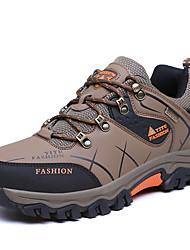 Homme Chaussures d'Athlétisme Confort Polyuréthane Automne Hiver Athlétique Décontracté Randonnée Lacet Talon PlatGris clair Vert