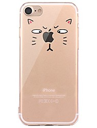 cheap -For iPhone X iPhone 8 Case Cover Transparent Pattern Back Cover Case Playing with Apple Logo Animal Soft TPU for Apple iPhone X iPhone 8