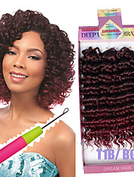 Synthetic braided deep wave style 3pc/pack Bouncy Curl 10inch freetress water wave hair crochet braids deep curly hair 3X Braid Savana bohemian hair