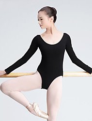 cheap -Shall We Ballet Leotards Women's Training Cotton 1 Piece Long Sleeve High Leotard