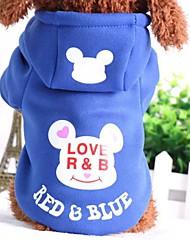 preiswerte -Hund Pullover Hundekleidung Cartoon Design Schwarz Blau Rosa Schwarz/Rot Blau / Rot Baumwolle Kostüm Für Haustiere Lässig/Alltäglich