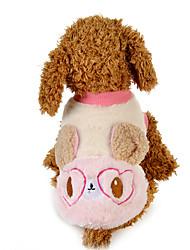 Cachorro Moletom Roupas para Cães Casual Desenho Animado Azul Rosa claro Ocasiões Especiais Para animais de estimação
