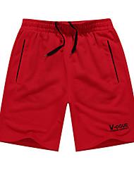 Per uomo Pantaloncini da corsa Casual Pantaloncini /Cosciali Pantaloni per Corsa Esercizi di fitness Tessuto sintetico M L XL XXL