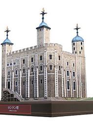 Недорогие -3D пазлы Бумажная модель Башня Знаменитое здание Своими руками Плотная бумага Детские Универсальные Подарок