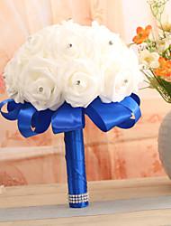 economico -Bouquet sposa Bouquet Matrimonio Raso elasticizzato 22 cm ca.