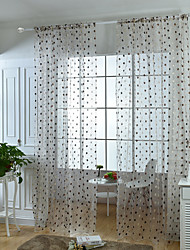 Rod Pocket Curtain Round Pastoral , Embroidered Living Room Material Sheer Curtains Shades Home Decoration For Window