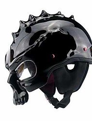 YEMA Skull Head Motorcycle Helmet Men And Women Locomotive Double-Sided Electric Car Street Car Skull Helmet Personality Cool Helmet Helmet