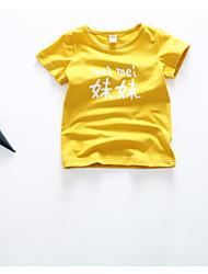 baratos -bebê Crianças Camiseta Lolita Desenho Laranja Vermelho Rosa Amarelo Fúcsia