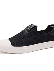 Men's Loafers & Slip-Ons Comfort Spring Fall Customized Materials Athletic Casual Outdoor Split Joint Flat Heel Black Ruby Flat