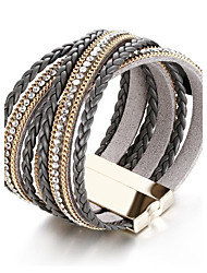 cheap -Women's Wrap Bracelet - Rhinestone Friends Luxury, Vintage, Bohemian Bracelet Black For Christmas / Christmas Gifts / Party