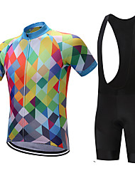 Cycling Jersey with Bib Shorts Men's Short Sleeves Bike Sweatshirt Jersey Shorts Shirt Tops Quick Dry Moisture Permeability Sweat-wicking