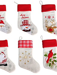 cheap -New Year Christmas Stockings Socks Santa Claus Candy Gift Bag Xmas Tree Hanging Ornament Decoration(Style random)