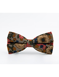 cheap -Men's Cotton Bow Tie,Casual All Seasons Light Brown