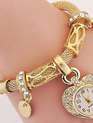 cheap -Women's Bracelet Watch Fashion Watch Wrist watch Digital Metal Band Silver Gold