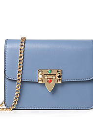 Women Bags All Seasons PU Shoulder Bag Chain for Wedding Event/Party Casual Sports Formal Outdoor Office & Career Blue Black Gray