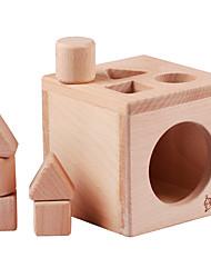 baratos -Blocos de Construir Brinquedo Educativo Jogos de Madeira Brinquedos Quadrada Criança Peças
