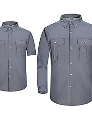 Men's Hiking Shirt Outdoor Fast Dry Quick Dry Windproof Wearproof Top Fishing Casual Traveling Back Country Indoor
