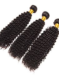 Natural Color Hair Weaves Brazilian Texture Kinky Curly Curly Weave 6 Months 3 Pieces hair weaves
