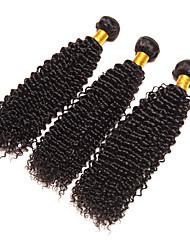 cheap -3 Bundles Brazilian Hair Kinky Curly / Curly Weave Virgin Human Hair Natural Color Hair Weaves / Hair Bulk Human Hair Weaves Human Hair Extensions