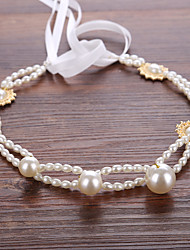 abordables -imitación perla organza tiaras headpiece estilo femenino clásico