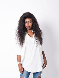 abordables -Cheveux humains Full Lace Perruque Ondulation Lâche 130% Densité 100 % Tissée Main Perruque afro-américaine Ligne de Cheveux Naturelle