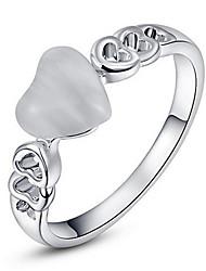 economico -Per donna Struttura dell'anello Fedine Anello Opal sintetico Classico Originale Amicizia Gioielli di Lusso Stile semplice USA Formale