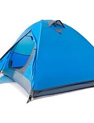 abordables -BSwolf 2 personne Tente Double couche Tente de camping Extérieur Etanche, Résistant aux ultraviolets, Résistant à la poussière pour Camping / Randonnée 2000-3000 mm Térylène, Fibre de verre