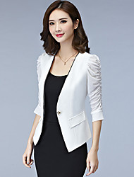 cheap -Women's Jacket - Solid V Neck