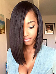 cheap -Short Bob 150% Density Glueless Lace Front Human Hair Lace Wigs with Baby Hair Top 8''-14'' Lace Front Wigs Natural Hairline Brazilian 100% Human Hair