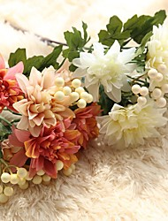The Simulation Flower Dahlia Bouquet Of Flowers Wedding Supplies Home Decoration Silk Flowers