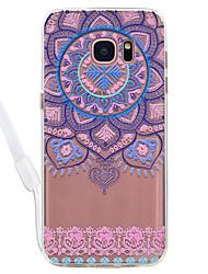 Недорогие -Кейс для Назначение SSamsung Galaxy S8 Plus S8 Прозрачный С узором Задняя крышка Мандала Прозрачный Кружева Печать Твердый Акриловое