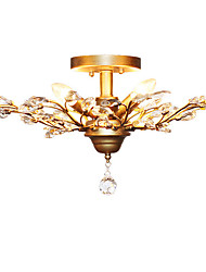 Flush Mount ,  Traditional/Classic Vintage Retro Country Antique Brass Feature for Crystal LED Mini Style MetalLiving Room Bedroom Dining