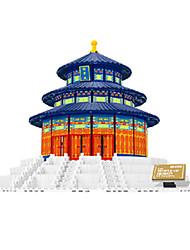 baratos -WANTOY Blocos de Construir Construções Famosas Arquitetura Chinesa Arquitetura templo do Céu Para Meninas Para Meninos Unisexo Brinquedos