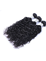 cheap -Most Affordable 3 Pcs 300g Brazilian Virgin Human Hair Wefts Tangle Free 100% Unprocessed 1B# Natural Black Wave Human Hair Weaves/Extensions