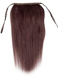 18inch Silk Straight Clip In  High Ponytail Human Hair Extensions 80g